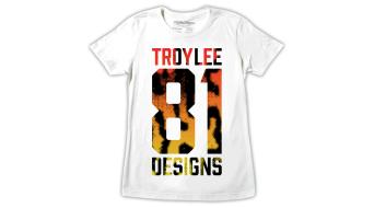 Troy Lee Designs Cheetah 81 T-Shirt kurzarm Damen-T-Shirt Gr. L white Mod. 2015
