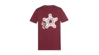 Zimtstern TSM Starchain camiseta de manga corta Caballeros-camiseta ruby wine