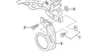 Shimano placa de sujeción (E-Type-fijación en eje pedalier) (N°. 8)
