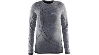Craft Active Comfort Roundneck camiseta manga larga niños-camiseta negro/grey