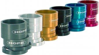 Hope Space Doctor aluminio vainas distanciadoras 1 1/8 azul anodizado (2x5, 1x10, 1x20mm) (Imagen ejemplar))