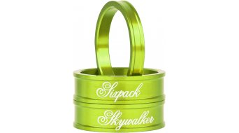 Sixpack Skywalker CNC Spacerkit 1 1/8 green anodized