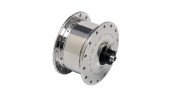 SON XS klassik front wheel hubs dynamo for Brompton 28 hole 8x74mm polished