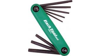 Park Tool TWS-2 Faltw. torx chiave T7,T9,T10,T15,T20,T27,T30,T40