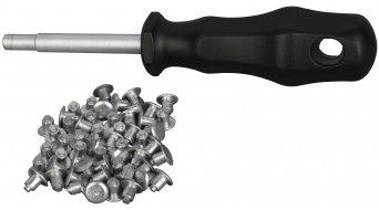 Schwalbe 钢 轮胎 Spikes + 安装工具 (50个.)