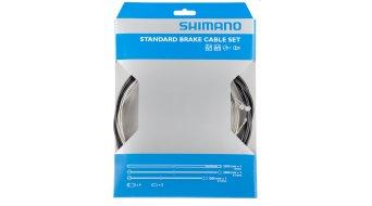 Shimano ATB/MTB juego cables de freno con 2 cables Bowden, fundas exteriores y tapas terminales
