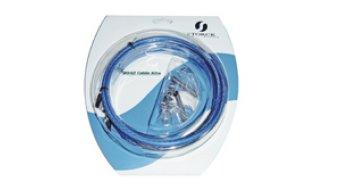 Storck Jagwire Road cable de freno/cambio-juego speed azul, incl. carbono tornillo de ajusten y carbono Hülsen