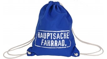"HIBIKE ""Hauptsache Fahrrad."" Turn pack cotton-Stoff bag blue"