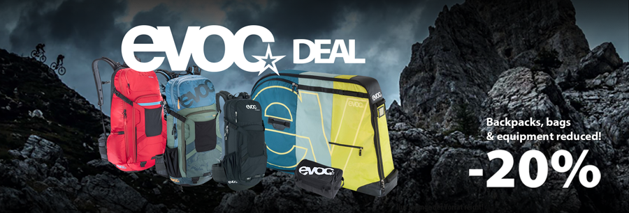 Evoc backpacks & bags 20% reduced!