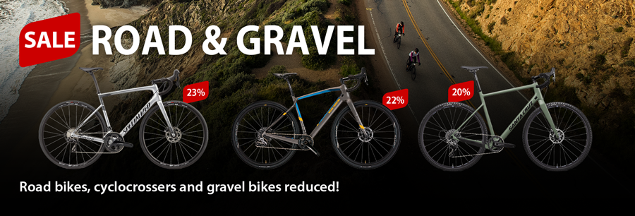 Bike sale: 20% and more on gravelbikes, cycloscross and road bikes