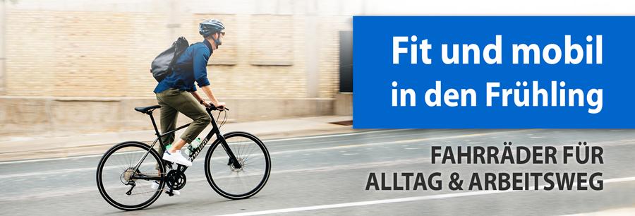 Fahrräder für Alltag und Arbeitsweg