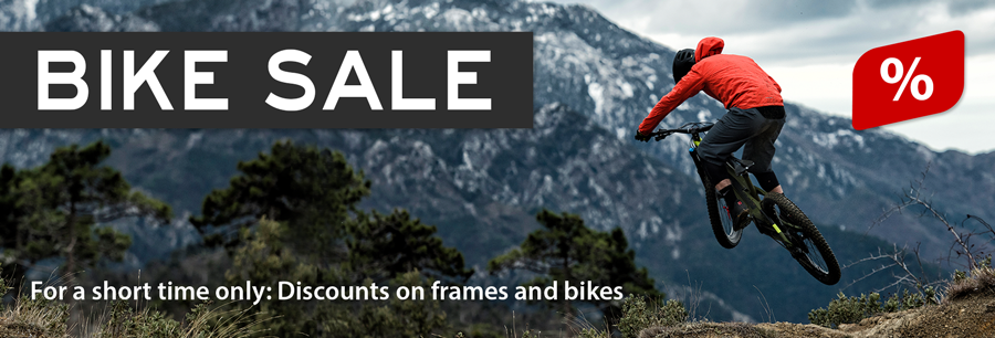 Bike sale: 20 % and more discount on bikes & frames