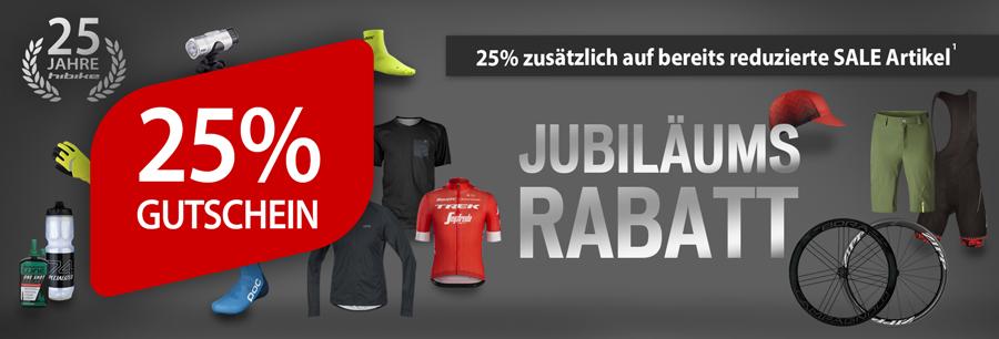 Jubiläums Rabatt - 25% Gutschein