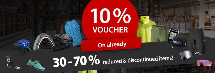 Stock clearance: 30%-70% on discontinued goods