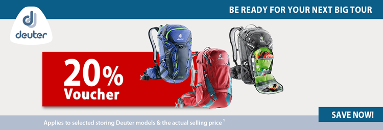 20% voucher for Deuter backpacks