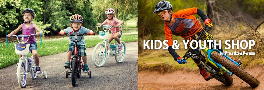 Tienda para niños y jovenes  HIBIKE - Aquí encontrarás todo lo que los pequeñas ciclistas necesitan. Comprar llantitas MTB de 12 hasta de 24 pulgadas, maillots para niños, camisetas y mucho más a precios muy económicos
