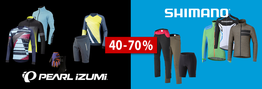 Pearl Izumi Bekleidung 40-70 % reduziert bei hibike.de