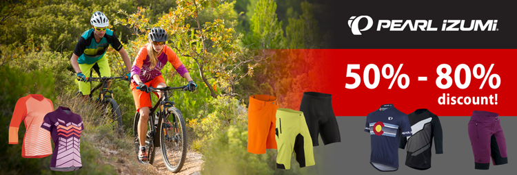 Pearl Izumi bike clothing reduced by up to 80%