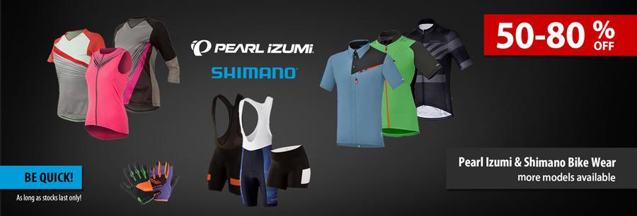 Pearl Izumi & Shimano Bike Wear Sale
