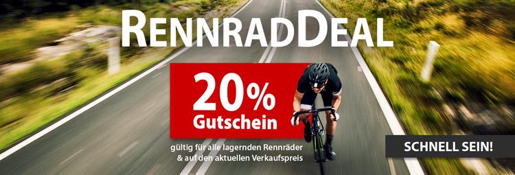 20% Gutschein für Rennräder bei HIBIKE