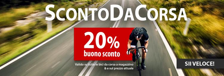 Buono sconto del 20% per bici da corsa
