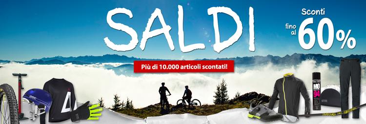 Offerte saldi invernali - abbigliamento bici, componenti bici e accessori scontati! Risparmia fino al 60% online da hibike.it