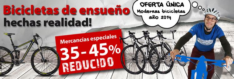Bicicletas de ensueño hasta un 45% reducidas