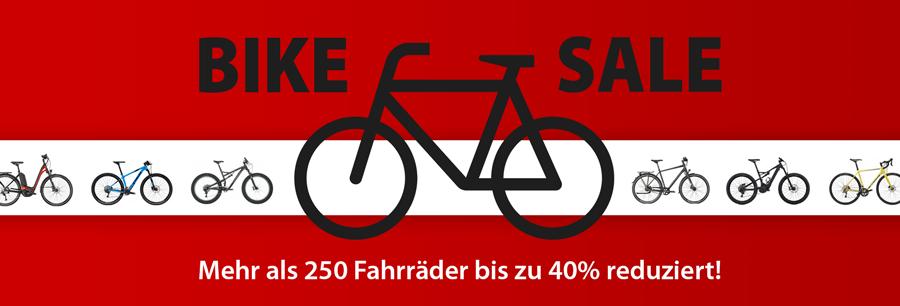 Bike Sale - jetzt sparen und bis zu 40% reduzierte Fahrräder kaufen