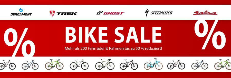 Bike Sale - jetzt sparen und bis zu 50% reduzierte Fahrräder kaufen