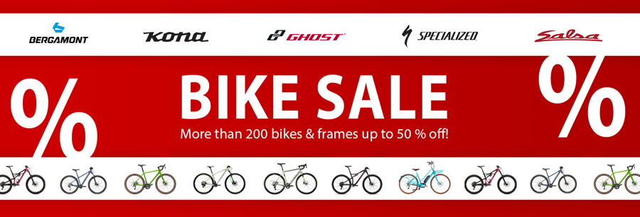 Bike Sale - More than 200 bikes & frames up to 50 % off!