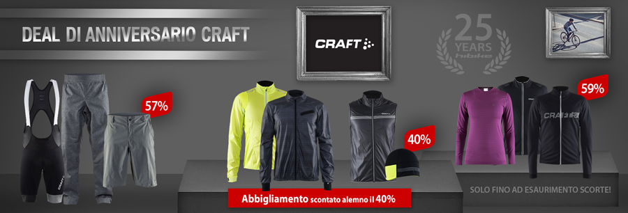 CRAFT clothing reduced by at least 40%!