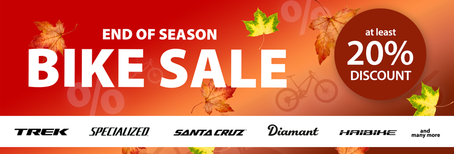BIKE SALE: 20% discount and more - be fast