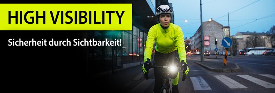 High visibility Neon-Fahrradbekleidung - Sicherheit durch reflektierende Bekleidung