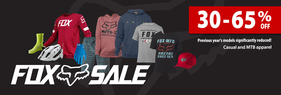 40-60% off FOX apparel