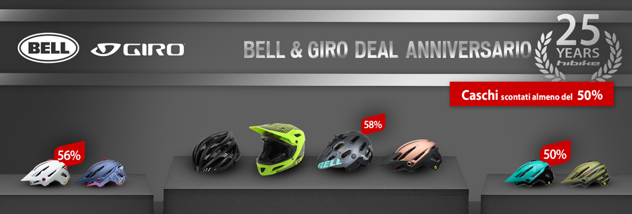 Giro and Bell helmets at least 50% off at hibike.de
