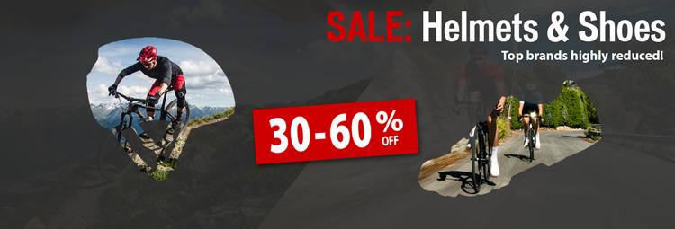 SALE: Helmets & Shoes - Top brands 30-60 % off shop online at hibike.de
