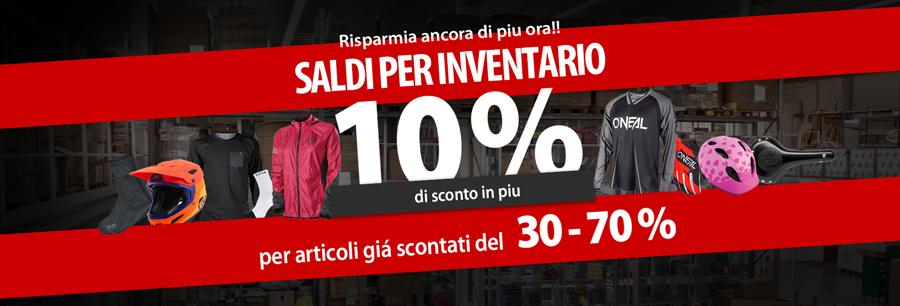 10% di sconto ulteriore su articoli dell inventario!