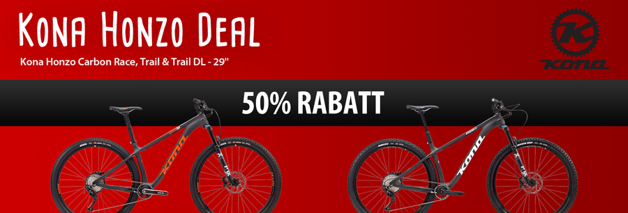 Kona Honzo Hardtail Mountainbikes 50% reduziert bei hibike.de