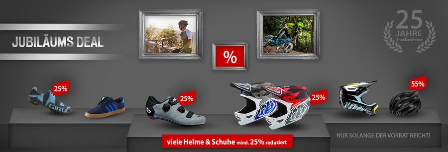 Mind. 25% Rabatt auf Helme & Schuhe