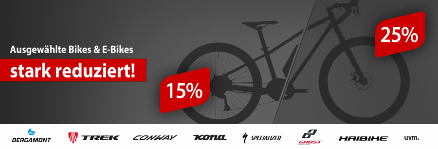 Bikes und E-Bikes stark reduziert reduziert