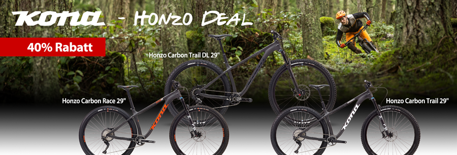 40% auf Kona Honzo Hardtail Trail Mountainbikes