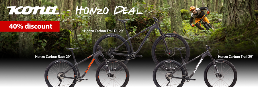 40% on Kona Honzo Hardtail Trail Mountainbikes