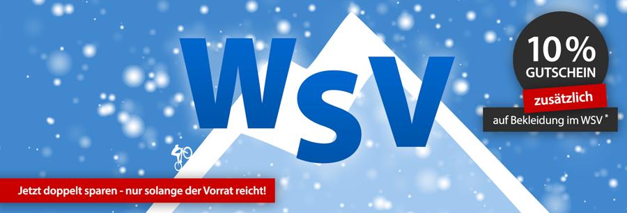 WSV 10% Gutschein - bei Fahrradbekleidung & Fahrradteilen zusätzlich sparen online bei hibike.de