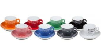 Chris King Espresso Tasse mit Untertasse white