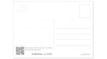 """HIBIKE Weihnachtspostkarte """"Hauptsache Fahrrad."""""""