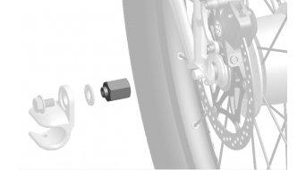 """Thule Adapter für Nabenschaltungssysteme zur Montage von Anhängerkupplungen Shimano 3/8""""x26"""