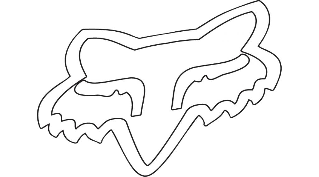 "Fox TDC Aufkleber 5.1cm (2"") white"