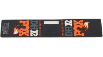 Fox Racing Shox DHX2 Factory Resy Decal orange