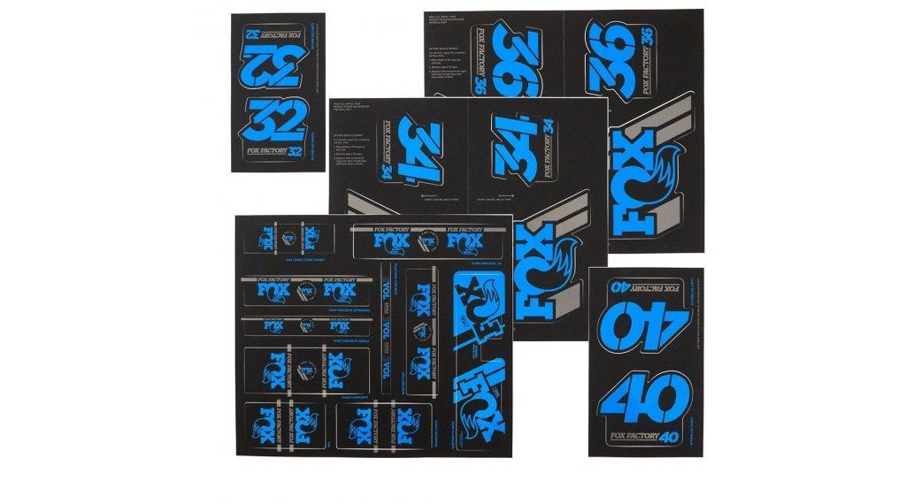 Fox AM Heritage Decal-Kit (Federgabel & Dämpfer) Blue