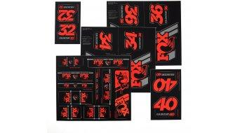 Fox AM Heritage Decal-Kit (Federgabel & Dämpfer) Red